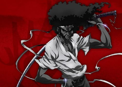 AFRO SAMURAI - RED 2 - Landscape canvas print - self adhesive poster - photo print
